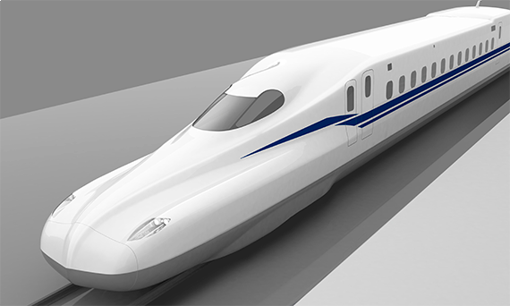 N700系に比べて先頭が非常にシャープになったN700S(提供:JR東海)